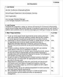 conference banqueting waiter job description template download waiter job description
