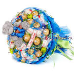 Поздравление к букету из конфет