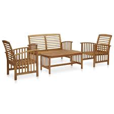 <b>4 Piece Garden Lounge</b> Set Solid Acacia Wood – Shop Trending Gifts
