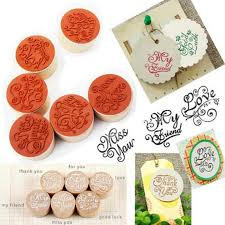 Special Offers <b>flower pattern</b> round wooden rubber stamp list and ...