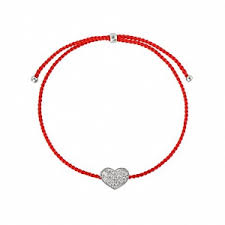 <b>Браслет</b> Сердечко серебряное на красной <b>нити</b> - купить за 1 600 ...