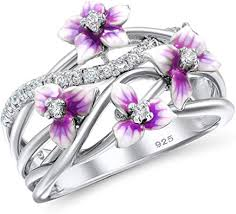 Santuzza 925 Sterling Silver Handmade Enamel <b>Delicate</b> Pink ...