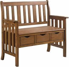 Coaster® Elevations Warm <b>Brown</b> 3-Drawer <b>Storage Bench</b>-300075 ...