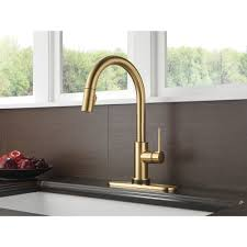 Delta Touch Kitchen Faucet Trinsic Single Handle Pull Down Kitchen Faucet Featuring Touch2o