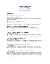 resume  sample resume for bartender server  chaoszresume sample bartender