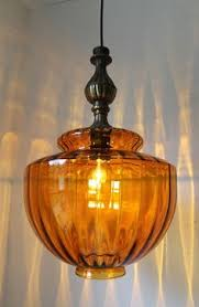 ichly textured huge amber glass globe mid century retro design hanging pendant lighting fixture amber pendant lighting