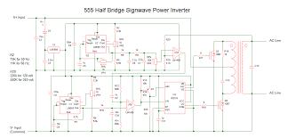 555 sine wave inverter schematic electronics forum (circuits Sine Wave Inverter Circuit Diagram 555 half bridge signwave power inverter 2 png sine wave inverter circuit diagramusing 555