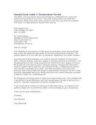 formal covering letter template formal covering letter