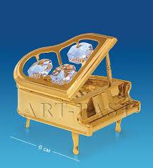 <b>Фигурка декоративная crystal temptations</b>, Рояль, 6 см | www.gt-a.ru