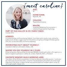 alexandra malloy co brand strategy media relations events intern spotlight caroline