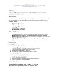 example resume hospitality industry cipanewsletter cover letter sample for fresh graduate hospitality management