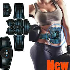 <b>Electric</b> Muscle Toner <b>EMS</b> Machine <b>Wireless</b> Toning Belt 6 Six Pack ...