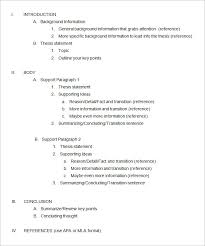 essay outline template free