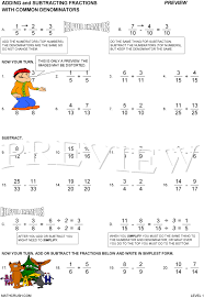 Worksheets by Math Crush: FractionsPreview Print Answers. Preview of Adding and Subtracting Fractions ...