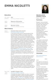 tutor resume samples   visualcv resume samples databasesessional tutor and lecturer resume samples