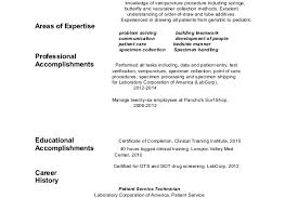 x 425 phlebotomy resume