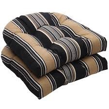 cozy and natural wicker chair cushions for furniture interior decor black and tan stripe wicker black patio chair cushions