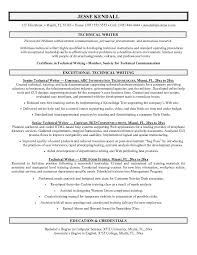 how to write technical resume   sales   technical   lewesmrsample resume  technical writing resume exle