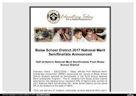 national merit semifinalists com boise school district 2017 national merit semifinalists announced half of idaho s national merit semifinalists from