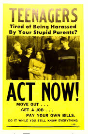 teenagers act now get a job vintage style show print poster sp195 jpg