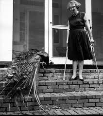 ajc photo vault flannery o conner her peacock flannery o conner her peacock 1962 flannery o connor on crutches