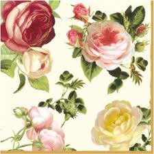 Paper Cocktail Napkins 2 X 20pcs 4-Color Roses ... - Amazon.com