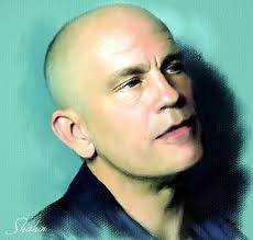 Picture Name : John Malkovich John Malkovich a digital oil portrait painted on canvas texture. - johnmalkovichinoil