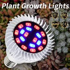 E27 <b>Grow LED</b> Greenhouse 18W 28W <b>E14</b> Indoor <b>Plant Light Full</b> ...