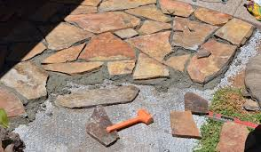 patio remodel installation flagstone  fascinating how to build a flagstone patio with home remodeling ideas