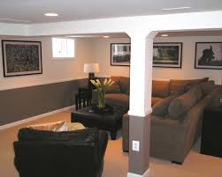 hiding the ducts and pole traditional basement small basement remodeling ideas design pictures remodel bedroomknockout carpet basement family