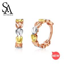 <b>SA SILVERAGE 18K</b> Lottery/Rose Gold/White Gold Heart Shape ...