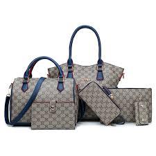 OEM/ODM Wholesale Fashion <b>Handbags 6PCS</b> Set PU <b>Leather</b> ...