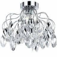 diagonally cut chrome tube frames each teardrop creating a glamorous and artful suite aussie lighting world