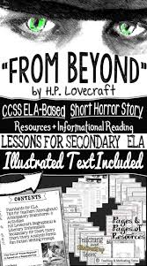 best images about poetry short stories in secondary on h p lovecraft short horror story lesson resources text for secondary ela