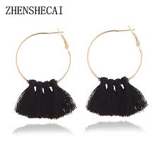 Hot <b>Sale</b> Round <b>Tassel Earrings</b> Jewelry Fashion Women Statement ...