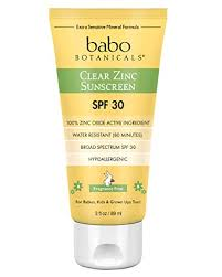 Babo Botanicals SPF <b>30</b>+ Fragrance Free <b>Clear Zinc Sunscreen</b> ...