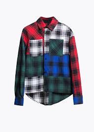 Рубашка в клетку patchwork. разноцветная | Рубашка, <b>Одежда</b> ...