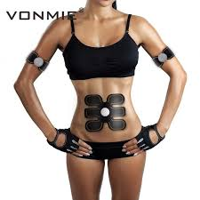 vonmie ems hip trainer electrical muscle stimulator abs fitness buttocks slimming tens machine remote control usb rechargeable