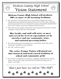 high school vision statements to know more about our new vision statement click here to more