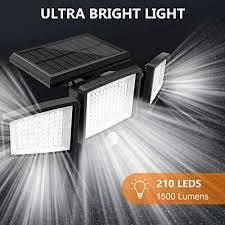 <b>Solar</b> Lights Outdoor, ATUPEN 210 LED 1500LM Motion Sensor ...