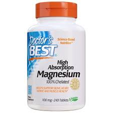 Doctor's Best <b>High Absorption Magnesium</b> -- 100 mg - 240 Tablets ...