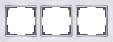 <b>Рамка</b> на 3 поста <b>Werkel</b> (белый/хром) WL03-Frame-03-white ...