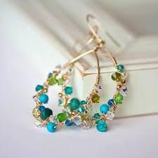 <b>Citrine</b> Chandelier Earrings, <b>Romantic</b> Flower Jewelry, <b>Yellow</b> Pink ...