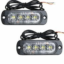 <b>2PCS</b> Car 4-<b>LED</b> Flash Emergency Hazard Warning Strobe Light ...