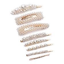 8 pcs Pearl Hairpin Women Girls Hair Clips Gold ... - Amazon.com