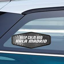 Makoroni - <b>KEEP CALM AND HALA</b> MADRID Sticker Decal - Car ...