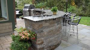 patio outdoor stone kitchen bar:  images about outdoor kitchen on pinterest patio bar built in grill and outdoor living