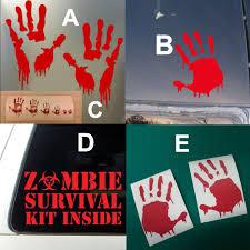 Bloody <b>zombie hand print</b> sticker walking dead <b>Halloween</b> Funny ...