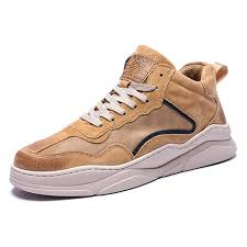 <b>IZZUMI</b> Autumn <b>Men</b> Mid-top <b>Shoes Casual Shoes</b> Tan EU 44 ...
