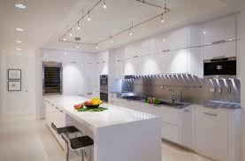 View In Gallery Cool Track Lighting Installation Above The Kitchen Island Is A Perfect Choice  Decoist